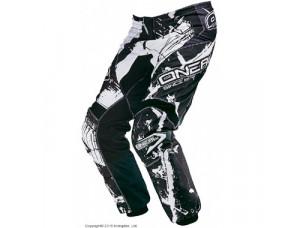 Штаны кроссовые Elements SHOCKER чёрно-белые