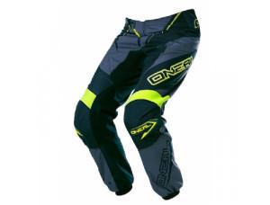 Штаны кроссовые ELEMENT RACEWEAR чёрно-серо-желтые флуоресцентные