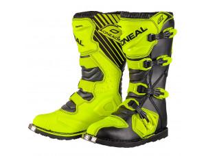 Мотоботы кроссовые Rider Boot желтые флуоресцентные
