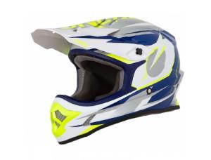 Шлем кроссовый 3SERIES RIFF синий