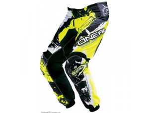 Штаны кроссовые Elements SHOCKER черно-желтые флуоресцентные
