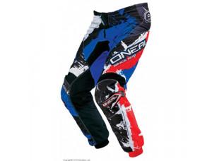 Штаны кроссовые Elements SHOCKER чёрно-красно-синие