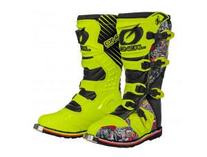 Мотоботы кроссовые RIDER Boot Crank желтые